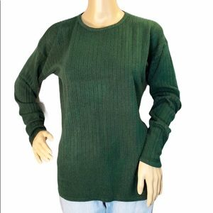 Amanda Smith Vintage Forest Green Sweater M